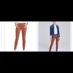 AG jeans -rust color  legging super skinny jeans